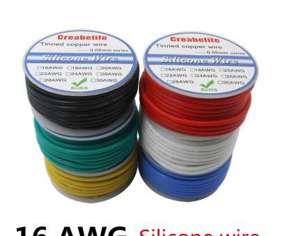 What Is 6 Gauge Wire In Mm Most 60M 16, Flexible Silicone Wire RC Cable OD 3.0Mm Line 6 Colors With Spool Tinned Copper Wire Electrical Wire-In Wires & Cables From Lights & Lighting On Images