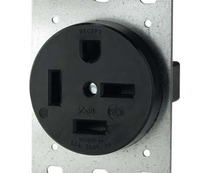 What Size Electrical Wire, 60, 220V Fantastic Eaton 60, 250-Volt 15-60 3-Pole/4-Wire Power Receptacle Images