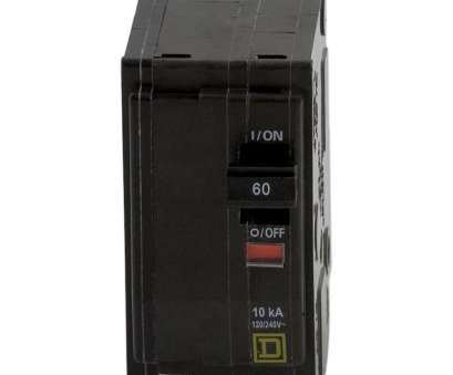 What Size Electrical Wire, 60, 220V Most Square D QO 60, 2-Pole Circuit Breaker Collections