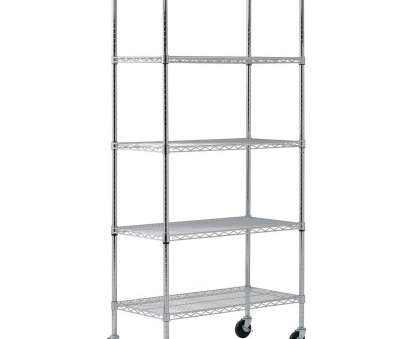 wheels for wire shelving units Amazing Wire Shelving Unit 5 Shelf Mobile Chrome, W H Ikea Lowe, Closet Home Depot With 9 Professional Wheels, Wire Shelving Units Photos
