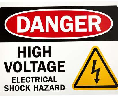 when is wire size in electrical hazard SmartSign Aluminum OSHA Safety Sign, Legend