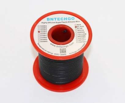where to buy 18 gauge electrical wire Get Quotations · BNTECHGO 18 Gauge Silicone Wire 50 Feet Spool Black Soft, Flexible High Temperature Resistant Highly Where To, 18 Gauge Electrical Wire Simple Get Quotations · BNTECHGO 18 Gauge Silicone Wire 50 Feet Spool Black Soft, Flexible High Temperature Resistant Highly Pictures