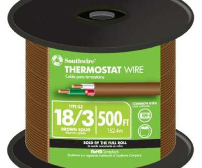 where to buy 18 gauge electrical wire Southwire, ft. 18/3 Brown Solid CU, Thermostat Wire Where To, 18 Gauge Electrical Wire Perfect Southwire, Ft. 18/3 Brown Solid CU, Thermostat Wire Solutions
