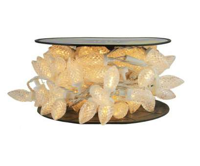 white c9 christmas lights with white wire ..., Commercial Length Warm White, Faceted C9 Christmas Lights on Spool 5