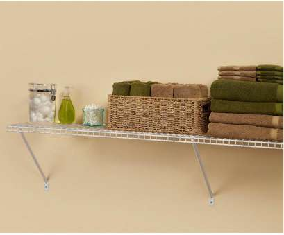 white coated wire closet shelving 12, D x 48, W x 12, H Ventilated Wire Closet System Shelf Kit White Coated Wire Closet Shelving Popular 12, D X 48, W X 12, H Ventilated Wire Closet System Shelf Kit Images