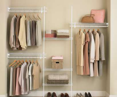 white coated wire closet shelving ClosetMaid SuperSlide, ft. Closet Organizer Kit 19 Best White Coated Wire Closet Shelving Collections