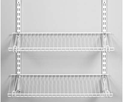 white coated wire closet shelving A Fool's Guide to Wire Closet Shelves Explained White Coated Wire Closet Shelving Perfect A Fool'S Guide To Wire Closet Shelves Explained Galleries