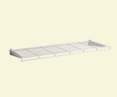 white coated wire closet shelving ShelfTrack 12.25, D x 36.25, W, in. H White Wire Book Shelf Steel Closet System White Coated Wire Closet Shelving Simple ShelfTrack 12.25, D X 36.25, W, In. H White Wire Book Shelf Steel Closet System Galleries