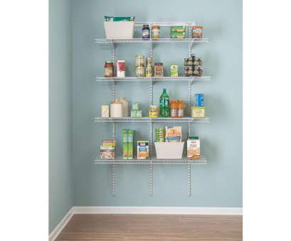 white coated wire closet shelving ShelfTrack 16.75, D x 48, W x 80, H White Wire Utility Steel Closet System Kit White Coated Wire Closet Shelving Cleaver ShelfTrack 16.75, D X 48, W X 80, H White Wire Utility Steel Closet System Kit Ideas