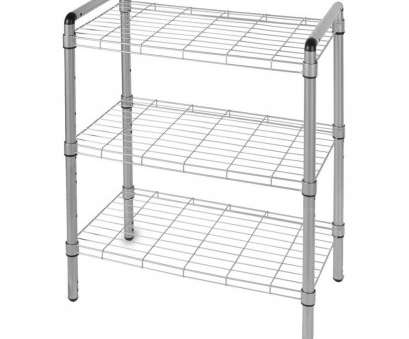 white plastic coated wire shelving 3 Tier Adjustable Wire Shelving with Extra Connectors, Stacking Silver-WS1003S -, Home Depot White Plastic Coated Wire Shelving Most 3 Tier Adjustable Wire Shelving With Extra Connectors, Stacking Silver-WS1003S -, Home Depot Images