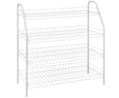 white wire cabinet shelves 28, H x 26 in, 12, D 4-Shelf 12-Pair Ventilated Wire Shoe Organizer in White White Wire Cabinet Shelves Simple 28, H X 26 In, 12, D 4-Shelf 12-Pair Ventilated Wire Shoe Organizer In White Pictures