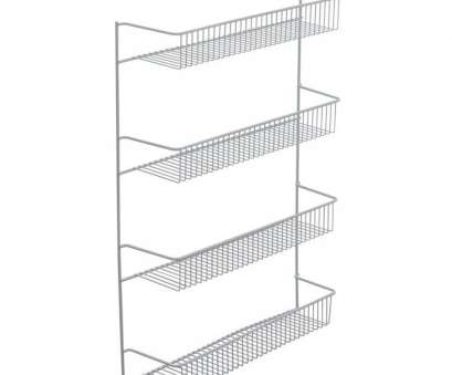white wire cabinet shelves Kitchen Pantry Door Wall Mount Cabinet Spice-Rack Snack Storage Organizer Holder White Wire Cabinet Shelves Fantastic Kitchen Pantry Door Wall Mount Cabinet Spice-Rack Snack Storage Organizer Holder Galleries