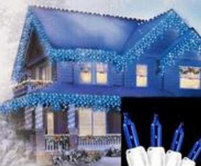 white wire christmas lights 300 Set of, Blue Mini Icicle Christmas Lights 3