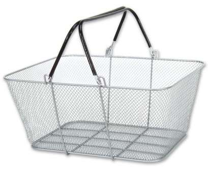 white wire mesh baskets Wire Handle Shopping Baskets Mesh Baskets/Rubber Coated 12 Basket, Silver NEW White Wire Mesh Baskets Top Wire Handle Shopping Baskets Mesh Baskets/Rubber Coated 12 Basket, Silver NEW Images