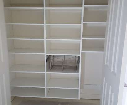 white wire pantry shelf White melamine pantry with adjustable shelves, pull, wire basket White Wire Pantry Shelf Simple White Melamine Pantry With Adjustable Shelves, Pull, Wire Basket Pictures