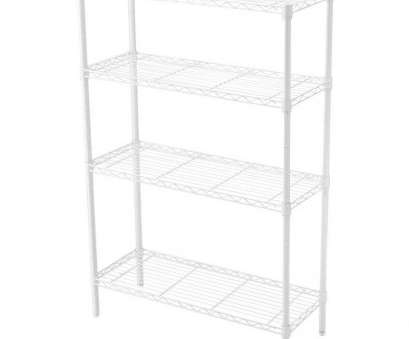 white wire rack shelving HDX 36, x 14, 4-Tier Wire Shelf in White 15 Nice White Wire Rack Shelving Pictures