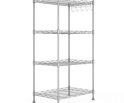white wire rack shelving Get Quotations · Dorfin 4-Shelf Kitchen Wire Shelving Unit Heavy Duty Storage Shelf Adjustable Free Standing Rack White Wire Rack Shelving Best Get Quotations · Dorfin 4-Shelf Kitchen Wire Shelving Unit Heavy Duty Storage Shelf Adjustable Free Standing Rack Photos