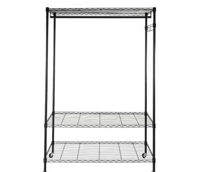 white wire shelf with hooks Get Quotations · Sinma 3 in 1 Heavy Duty Wire Shelving, Easy to Assemble Rolling Clothes Rack Garment White Wire Shelf With Hooks Cleaver Get Quotations · Sinma 3 In 1 Heavy Duty Wire Shelving, Easy To Assemble Rolling Clothes Rack Garment Pictures