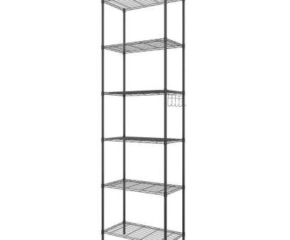white wire shelf with hooks Homdox 6-Tier Wire Shelving Storage Organizer Rack Adjustable Height w/ Side Hooks N20 White Wire Shelf With Hooks Simple Homdox 6-Tier Wire Shelving Storage Organizer Rack Adjustable Height W/ Side Hooks N20 Solutions