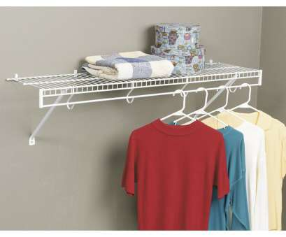 white wire shelf with hooks Wardrobe Racks, Wall Mounted Garment Rack Wall Mounted Garment Rail Popular White Wire Clothes Rack White Wire Shelf With Hooks Creative Wardrobe Racks, Wall Mounted Garment Rack Wall Mounted Garment Rail Popular White Wire Clothes Rack Solutions
