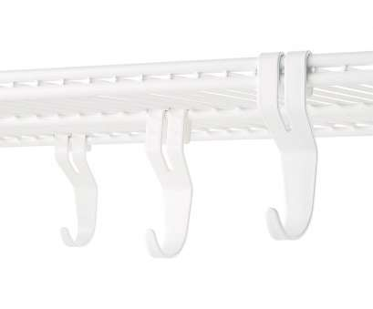 white wire shelf with hooks White Elfa Shelf Hooks Pkg/3 White Wire Shelf With Hooks Professional White Elfa Shelf Hooks Pkg/3 Collections