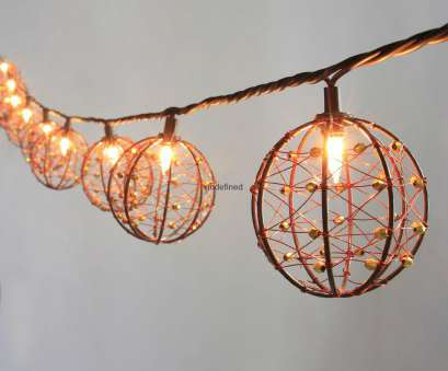 wire ball light ... Party String Lights-Decorative Beaded Copper Wire Ball string light 10ct 4 Wire Ball Light Practical ... Party String Lights-Decorative Beaded Copper Wire Ball String Light 10Ct 4 Galleries