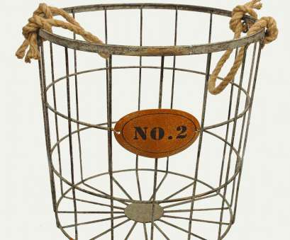 wire basket ball storage Wire Basket with Rope Handles *line with canvas, use as hamper? Wire Basket Ball Storage Top Wire Basket With Rope Handles *Line With Canvas, Use As Hamper? Solutions