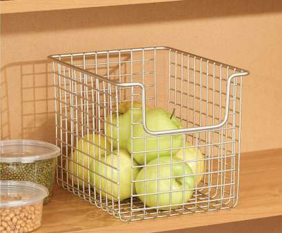 wire basket howards storage Amazon.com: mDesign Household Wire Kitchen Pantry Storage Organizer Basket,, Easy Access Open Front Design, Cabinets, Cupboards, Shelves, 8