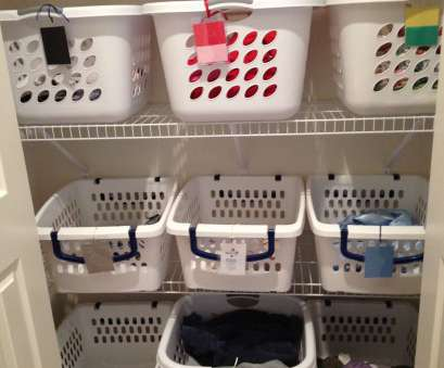 wire basket howards storage Laundry sorting closet w/ tags to label baskets by color or picture! Wire Basket Howards Storage Best Laundry Sorting Closet W/ Tags To Label Baskets By Color Or Picture! Ideas