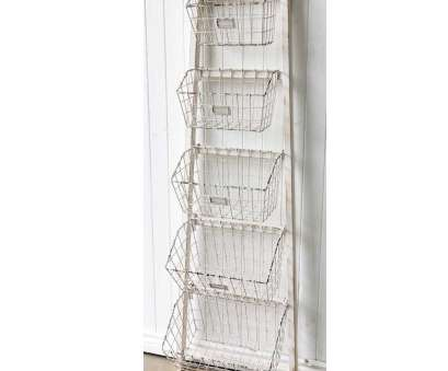 wire basket ladder shelves 41 Metal Shelves With Baskets, Industrial Shelving With Wire intended, Ladder Shelf With Baskets Wire Basket Ladder Shelves Most 41 Metal Shelves With Baskets, Industrial Shelving With Wire Intended, Ladder Shelf With Baskets Galleries
