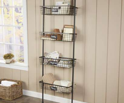 wire basket ladder shelves Rustic Bookcase With Ladder Design Combined Black Iron Frames Also Four Wire Basket And Wire Basket Ladder Shelves Perfect Rustic Bookcase With Ladder Design Combined Black Iron Frames Also Four Wire Basket And Images