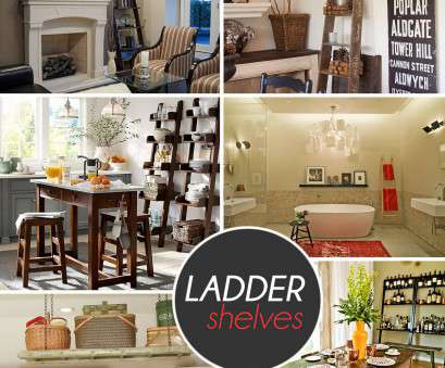 wire basket ladder shelves Stepping It Up In Style: 50 Ladder Shelves, Display Ideas Wire Basket Ladder Shelves Nice Stepping It Up In Style: 50 Ladder Shelves, Display Ideas Photos