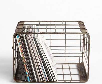 9 Simple Wire Basket Record Storage Solutions