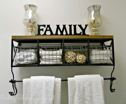15 Practical Wire Basket Shelf, Bathroom Images