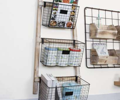 wire basket shelf for bathroom Rustic Wall Mounted Wire Basket Storage Rack Wall Hanging Baskets, Bathroom Storage Using Baskets, Wall Storage Wire Basket Shelf, Bathroom Practical Rustic Wall Mounted Wire Basket Storage Rack Wall Hanging Baskets, Bathroom Storage Using Baskets, Wall Storage Images