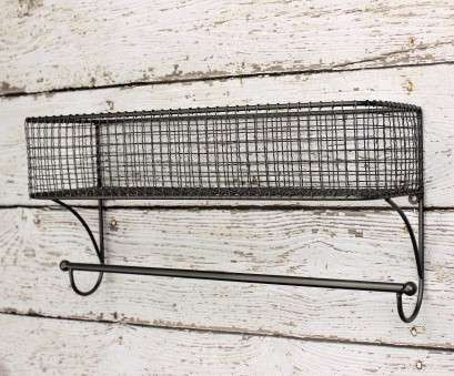 wire basket shelf with towel bar Bathroom Organizer, Basket Towel Rod, Bathroom Shelf, Bathroom Storage, Industrial, Towel Wire Basket Shelf With Towel Bar Fantastic Bathroom Organizer, Basket Towel Rod, Bathroom Shelf, Bathroom Storage, Industrial, Towel Pictures