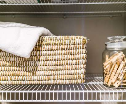 wire basket shelf with towel bar Reclaim Your Closets: 17 Brilliant Hall Closet Organization Ideas Wire Basket Shelf With Towel Bar Top Reclaim Your Closets: 17 Brilliant Hall Closet Organization Ideas Collections