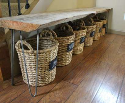 Wire Basket Shoe Storage Brilliant My Husband Used A Wire Brush Going With, Grain Over, Entire Piece Of Wood;, Wire Brush Gets, Of, Big Splinters While Keeping, Aged Look Of Ideas