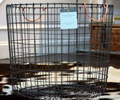 wire basket toy storage rolling wire basket how-to -, Heathered Nest on @Remodelaholic 8 Top Wire Basket, Storage Photos