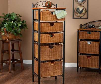 wire basket storage chest of drawers Southern Enterprises Paulson 18, W Storage Rack in Black with Oak 14 Nice Wire Basket Storage Chest Of Drawers Galleries