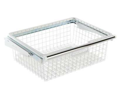 wire basket storage closet Shop Rubbermaid FastTrack White Wire Sliding Basket at Lowes.com Wire Basket Storage Closet Perfect Shop Rubbermaid FastTrack White Wire Sliding Basket At Lowes.Com Galleries