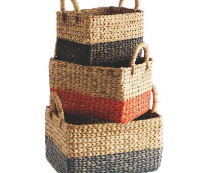 wire basket storage drawers uk COBY, of 3 multi-coloured rectangular water hyacinth baskets Wire Basket Storage Drawers Uk Nice COBY, Of 3 Multi-Coloured Rectangular Water Hyacinth Baskets Ideas