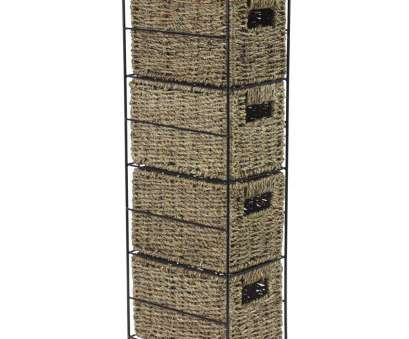 wire basket storage drawers uk JVL 4-Drawer Seagrass Storage Tower Unit with Black Metal Frame: Amazon.co., Kitchen & Home Wire Basket Storage Drawers Uk Professional JVL 4-Drawer Seagrass Storage Tower Unit With Black Metal Frame: Amazon.Co., Kitchen & Home Pictures