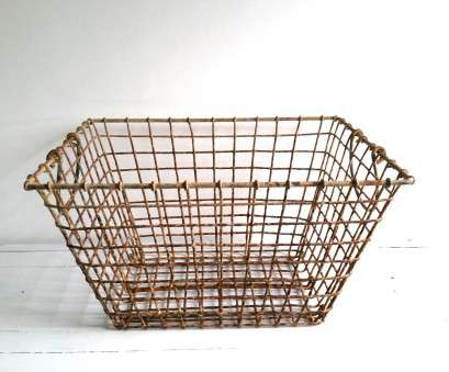 wire basket storage industrial French vintage metal wire basket * farmhouse home decor *, mussel basket * industrial storage Wire Basket Storage Industrial New French Vintage Metal Wire Basket * Farmhouse Home Decor *, Mussel Basket * Industrial Storage Galleries