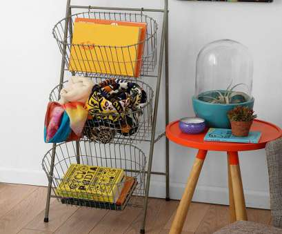 wire basket storage ladder 74 Best Wire Baskets Decor Images On Pinterest Wire 12 Popular Wire Basket Storage Ladder Photos
