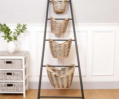 wire basket storage ladder Rustic Country Style Four Storage Basket Ladder Rack Ladder Wire Basket Storage Ladder Storage Basket Wire Basket Storage Ladder Professional Rustic Country Style Four Storage Basket Ladder Rack Ladder Wire Basket Storage Ladder Storage Basket Galleries