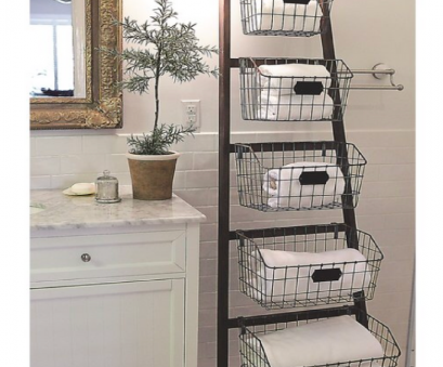 wire basket storage ladder Who ever said ladders, for climbing? This stylish wooden ladder with wire baskets is cute, creative, perfect, those looking, extra storage Wire Basket Storage Ladder Best Who Ever Said Ladders, For Climbing? This Stylish Wooden Ladder With Wire Baskets Is Cute, Creative, Perfect, Those Looking, Extra Storage Solutions