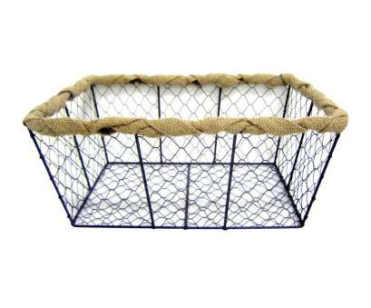 wire basket storage large Large Chicken Wire Basket with Burlap Wrap Wire Basket Storage Large Popular Large Chicken Wire Basket With Burlap Wrap Ideas