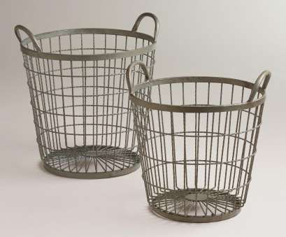 wire basket storage large Zinc Jayden Wire Baskets, Small, Online Interior Design, NousDecor Wire Basket Storage Large Best Zinc Jayden Wire Baskets, Small, Online Interior Design, NousDecor Images