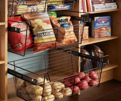 wire basket storage pantry I love baskets in, pantry! Pantry Options, Ideas, Efficient Kitchen Storage : Kitchen Remodeling : HGTV Remodels 8 Brilliant Wire Basket Storage Pantry Collections